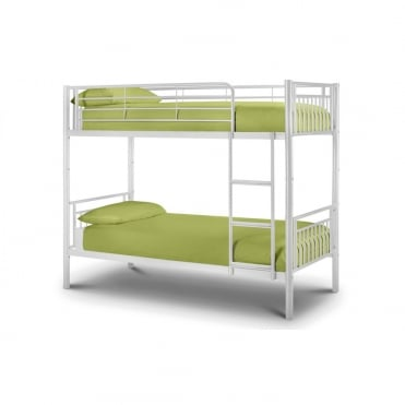 Atlas 3ft Single Gloss White Bunk Bed