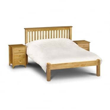 Barcelona 3ft Single Pine Finish Low Foot End Bed