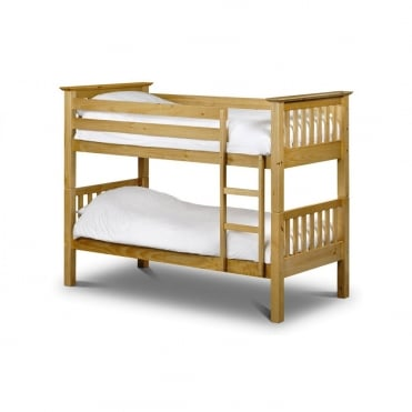 Barcelona 3ft Single Solid Antique Pine Bunk Bed