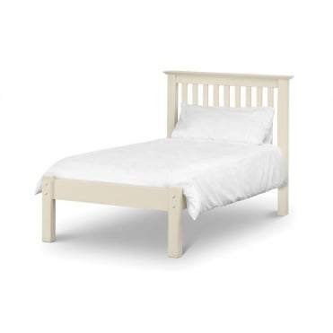 Barcelona 3ft Stone White Low Foot End Single Bed