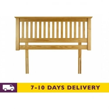Barcelona 4ft6 Double Solid Pine Headboard