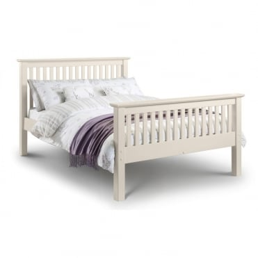 Barcelona 4ft6 Stone White High Foot End Double Bed