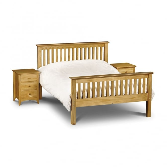 Julian Bowen Barcelona 5ft King Size High Foot End Pine Finish Bed