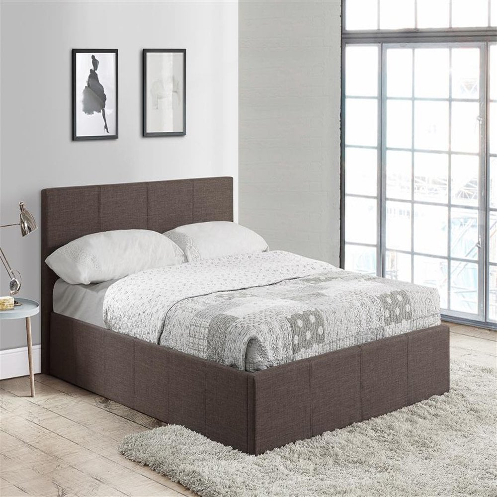 Superb Birlea Beds Befot4Gryv2 Berlin 4Ft Small Double Grey Fabric Ottoman Bed Bralicious Painted Fabric Chair Ideas Braliciousco