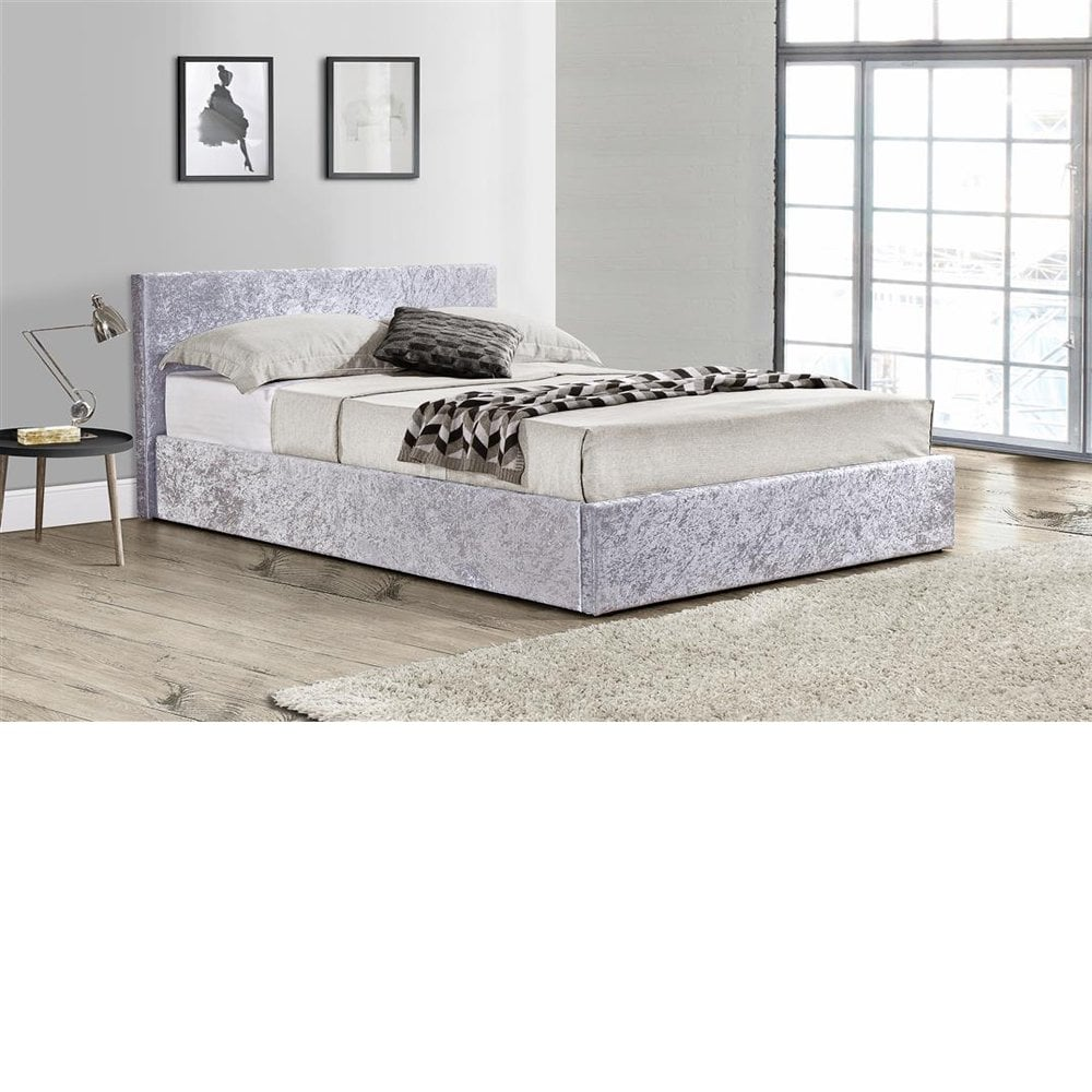 reputable site b8938 bac7b Birlea Beds BEOT3STEV2 Berlin 3ft Single Steel Crushed Velvet Ottoman Bed
