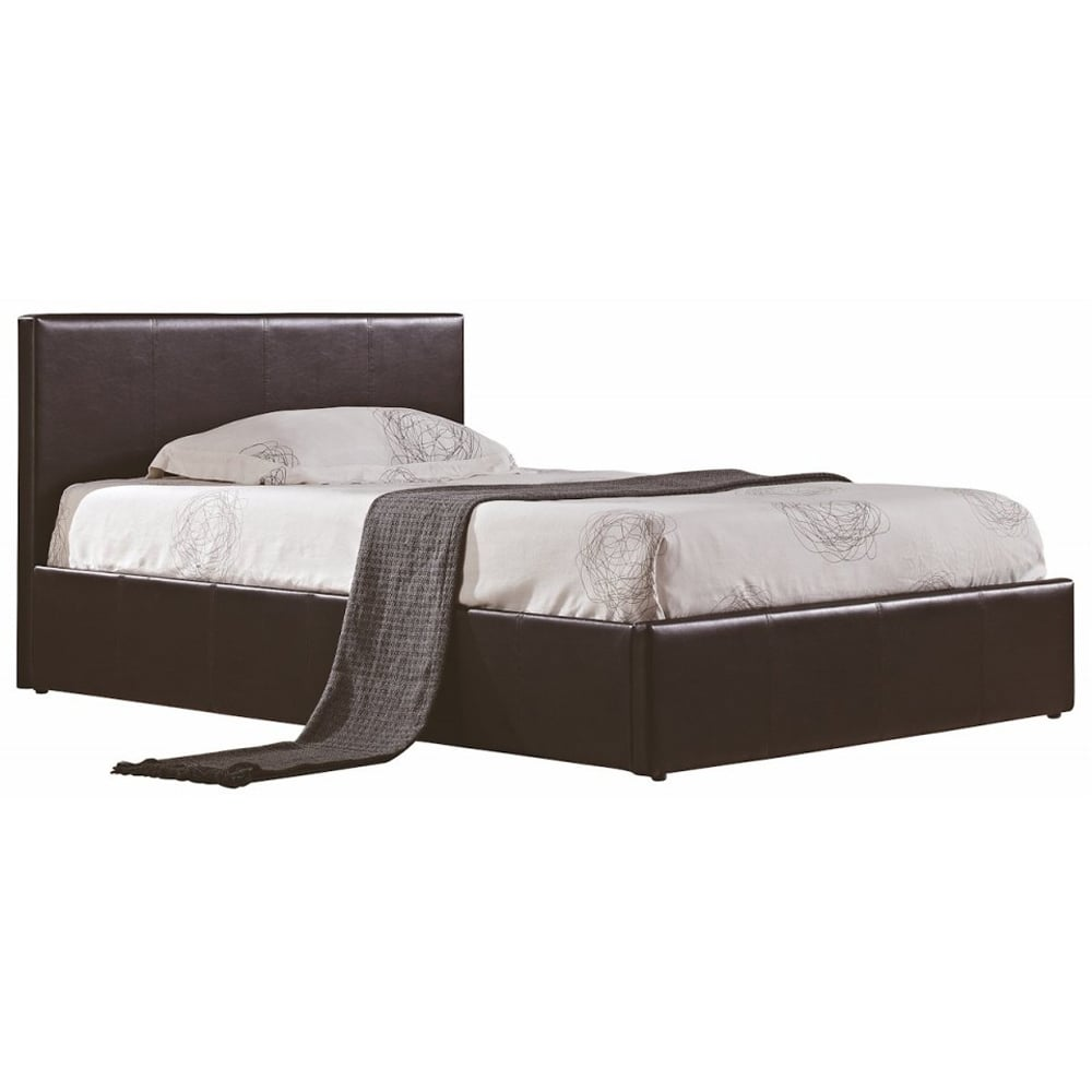 Tremendous Berlin Brown 4Ft6 Double Faux Leather Ottoman Bed Frame Pdpeps Interior Chair Design Pdpepsorg