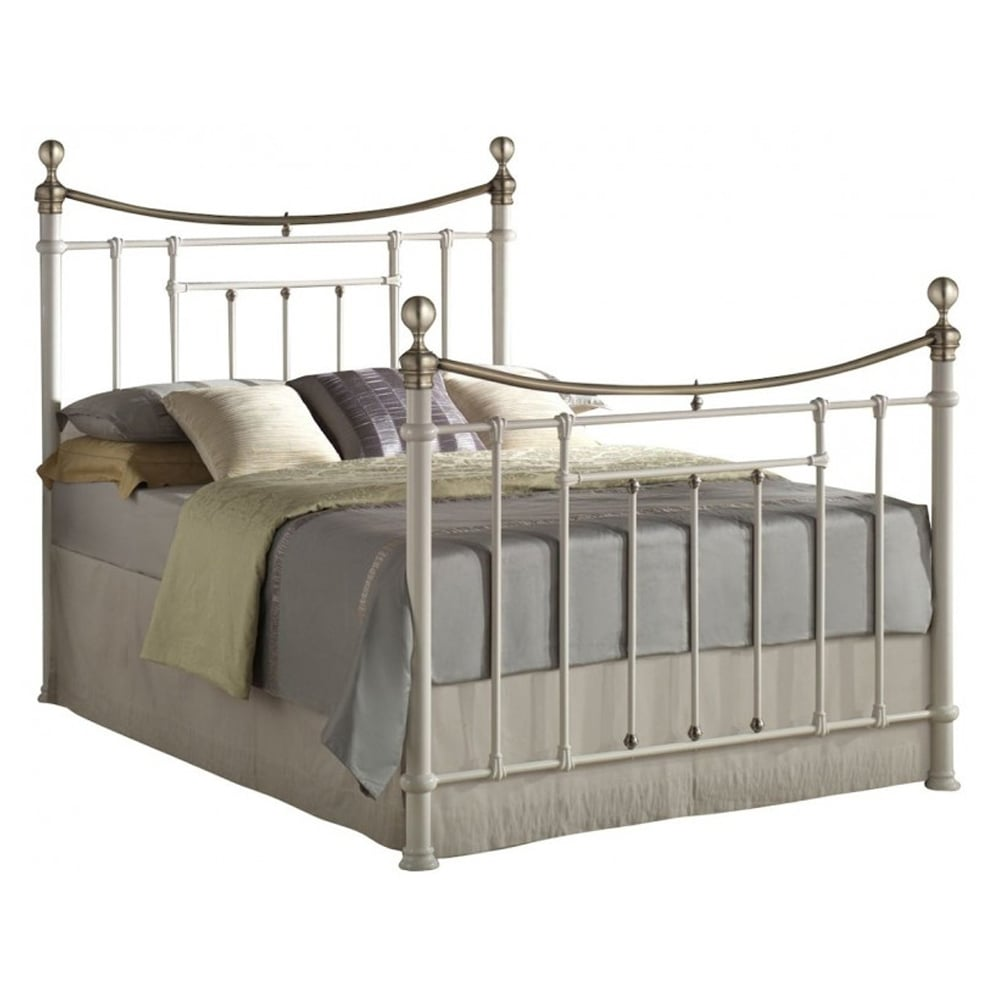 Cheapest Birlea Beds Brob5crm Bronte 5ft King Size Cream Metal Bed