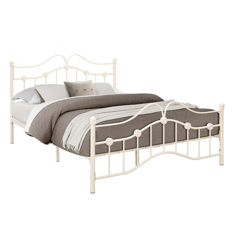 Sale Birlea Beds Canb4crm Canterbury 4ft Small Double Cream Metal Bed