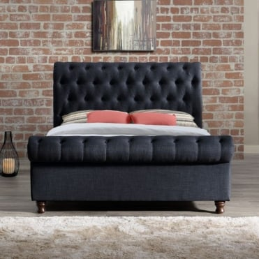 CASB6CHA Castello 6ft Super King Size Charcoal Fabric Bed