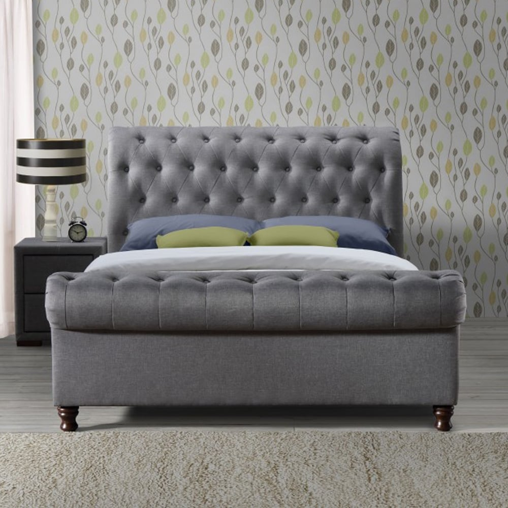 huge discount 99a21 9afd2 CASB6GRY Castello 6ft Super King Size Grey Fabric Bed