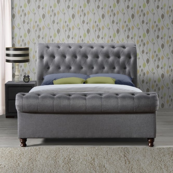 Birlea Beds CASB6GRY Castello 6ft Super King Size Grey Fabric Bed