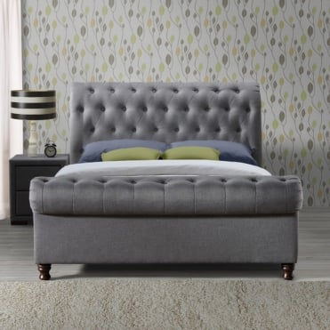CASB6GRY Castello 6ft Super King Size Grey Fabric Bed