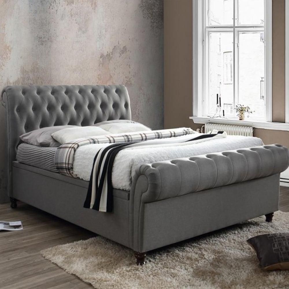 Fabulous Birlea Beds Casso6Gry Castello 6Ft Super King Size Grey Side Ottoman Bed Inzonedesignstudio Interior Chair Design Inzonedesignstudiocom