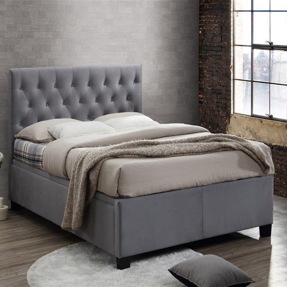 Wondrous Cogot46Gry Cologne 4Ft6 Double Grey Ottoman Bed Forskolin Free Trial Chair Design Images Forskolin Free Trialorg