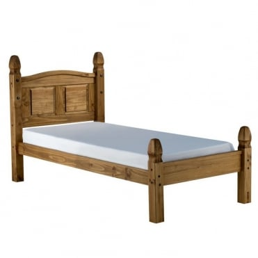 COROB3LPIN Corona 3ft Single Low End Waxed Pine Bed