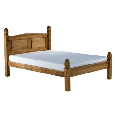 COROB46LPIN Corona 4ft6 Double Low End Waxed Pine Bed