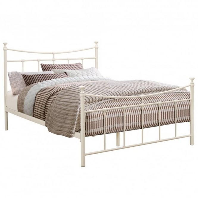 Birlea Beds EMIB4CRM Emily 4ft Small Double Cream Metal Bed
