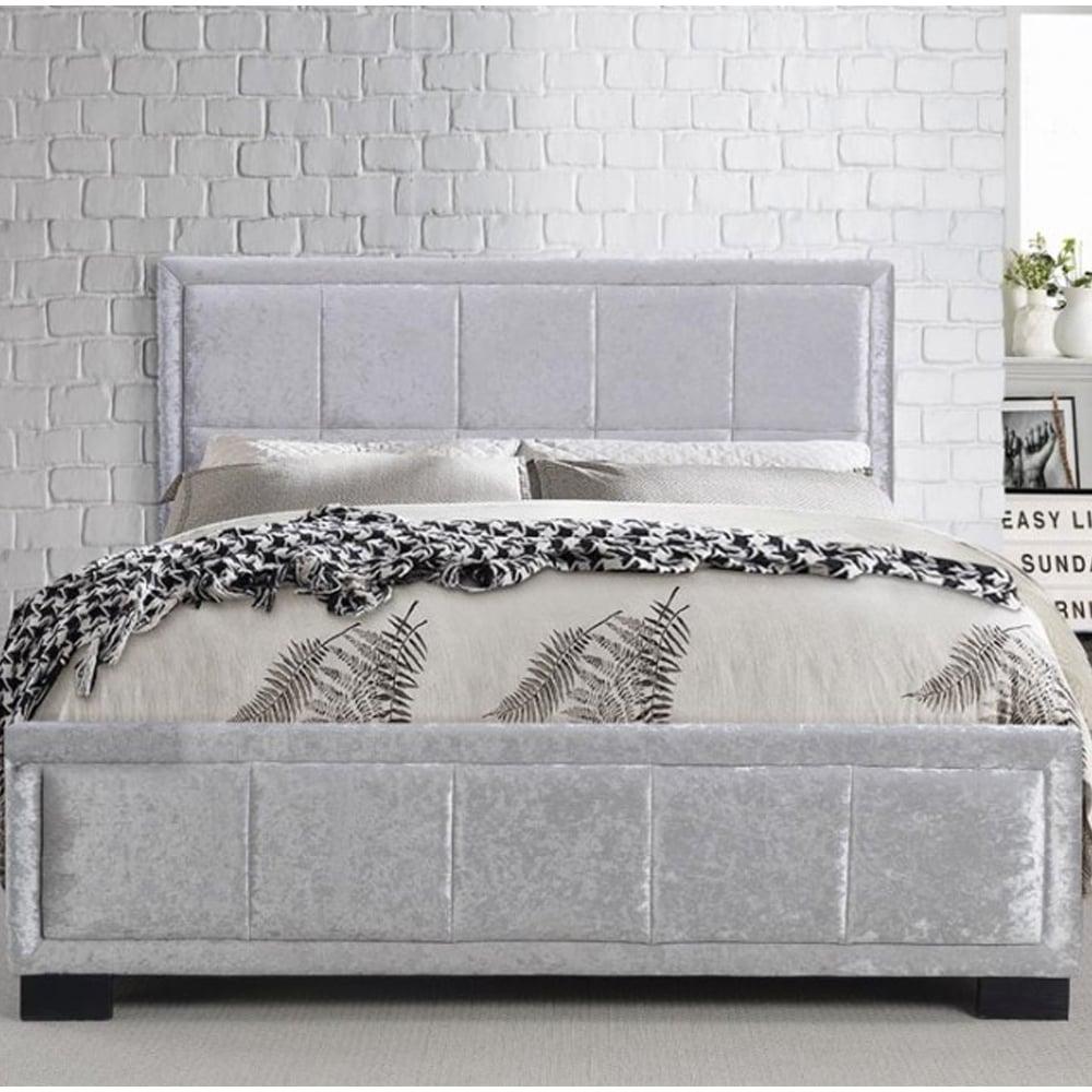 bargin birlea beds Hannover 4ft6 double steel crushed velvet bed ...