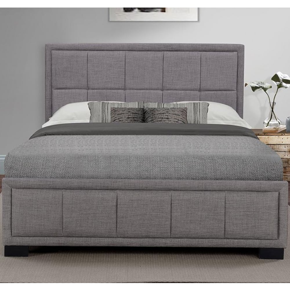 Cheap Birlea Beds Hannover 5ft King Size Grey Fabric Bed Hanfb5gryv2