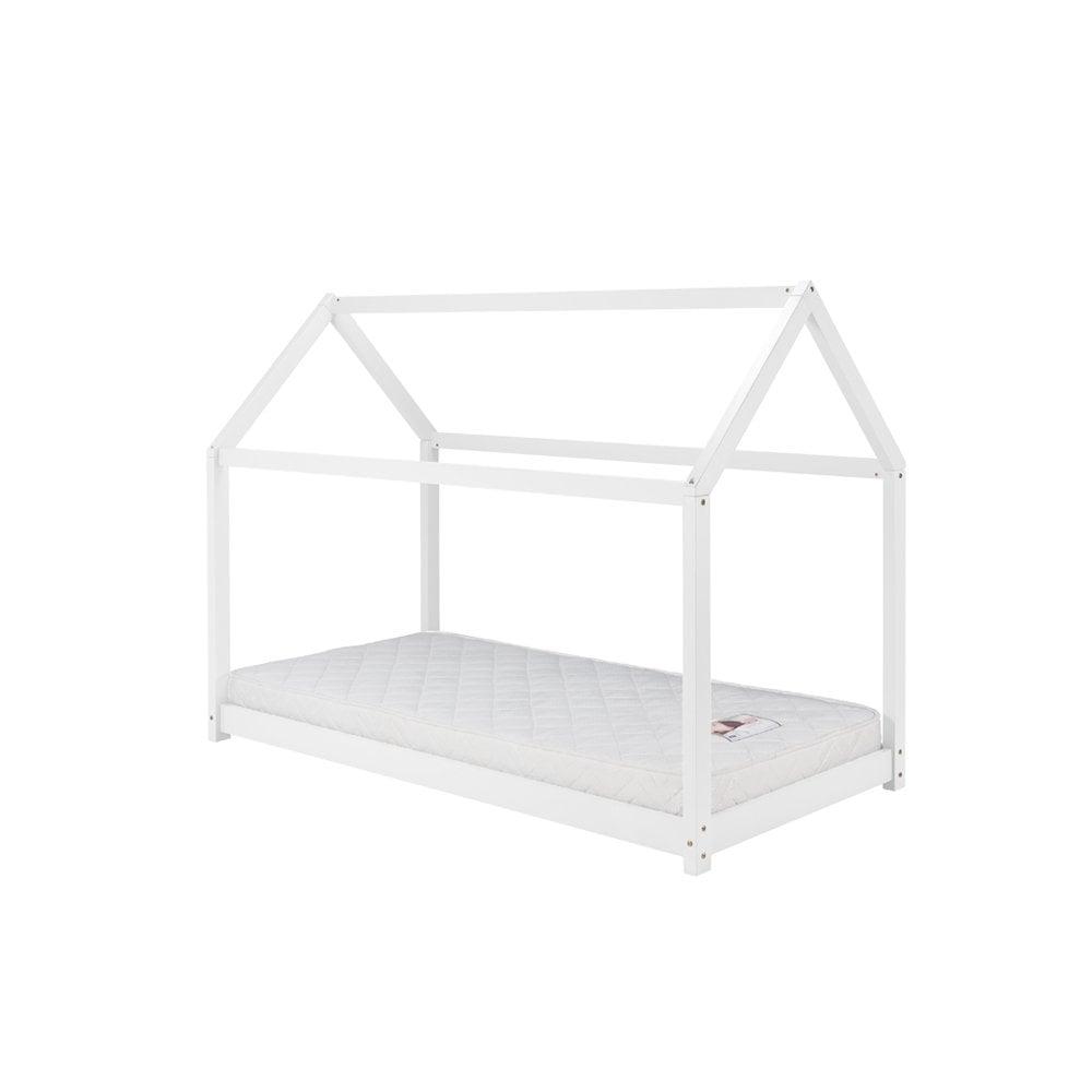 promo code 3ec53 103c2 HOUB3WHTV2 House Bed 3ft Single White Children's Bed Frame
