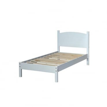 BN300LE Banff 3ft Single Warm White Wooden Bed