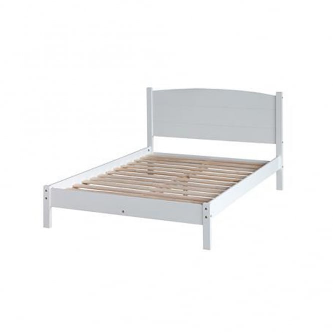 Core Products Ltd BN460LE Banff 4ft6 Double Warm White Wooden Bed