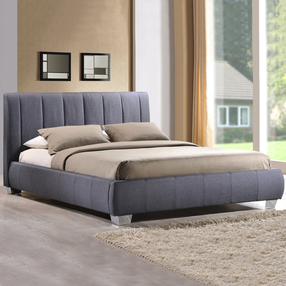 Cheapest Braunston 5ft King Size Grey Fabric King Size Bed Sale