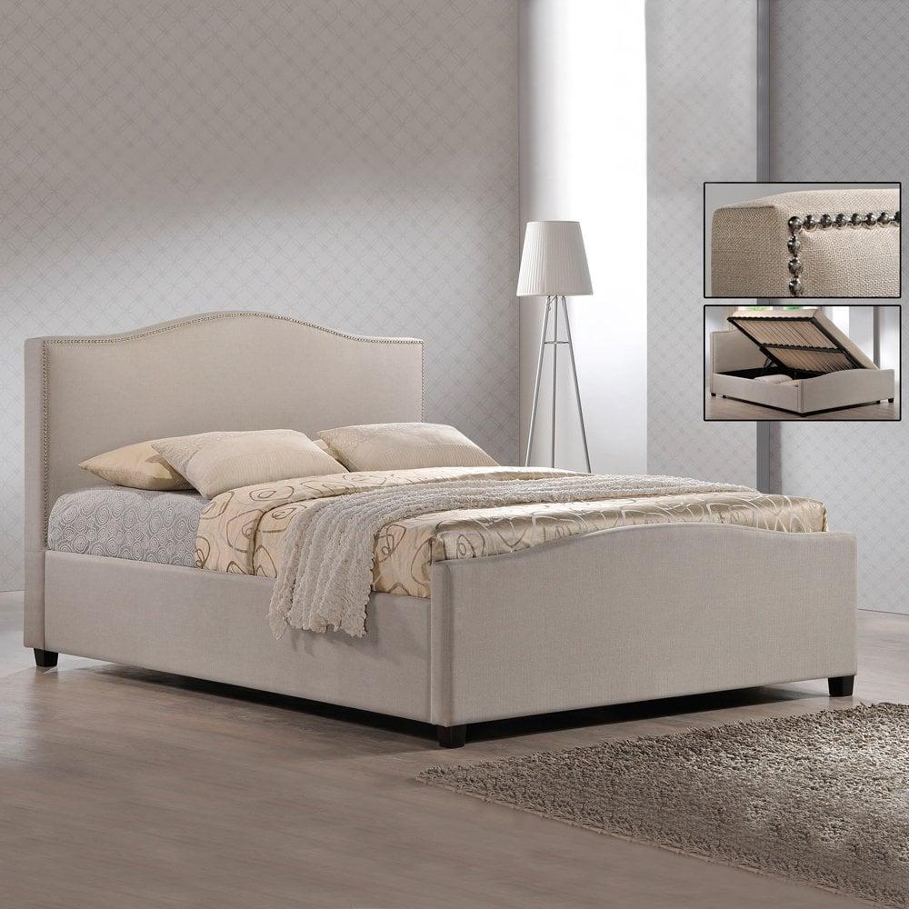 - Sale Brunsiwck 5ft Sand Fabric Ottoman Storage Bed Cheapest