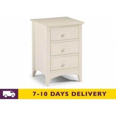 Cameo 3 Drawer Chest Bedside Cabinet