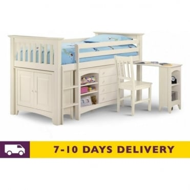 Cameo 3ft Left Hand Ladder White Sleep Station