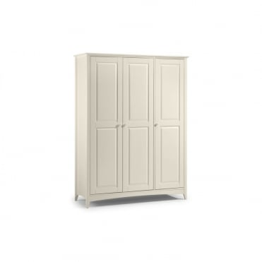 Cameo Stone White 3 Door Wardrobe