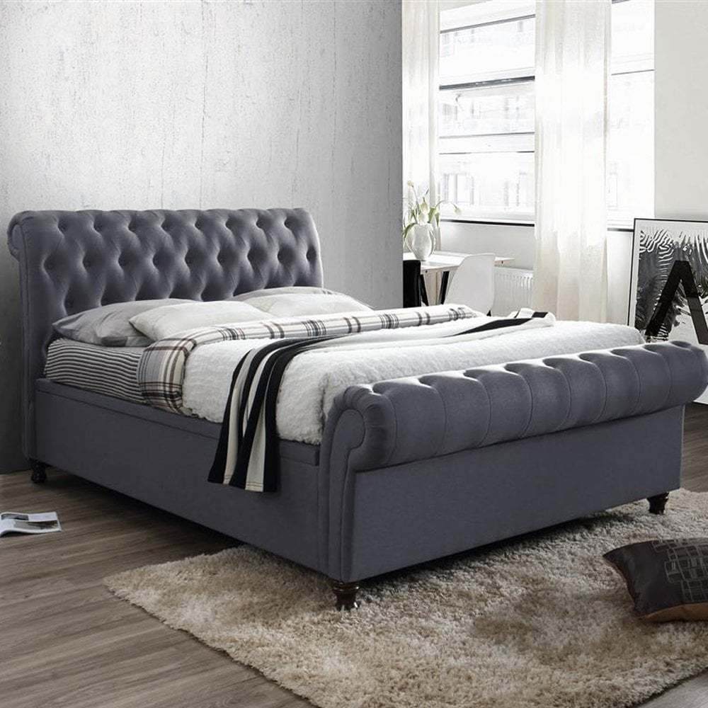 54718b89fdce shop birlea beds Castello 5ft kingsize charcoal side ottoman bed ...