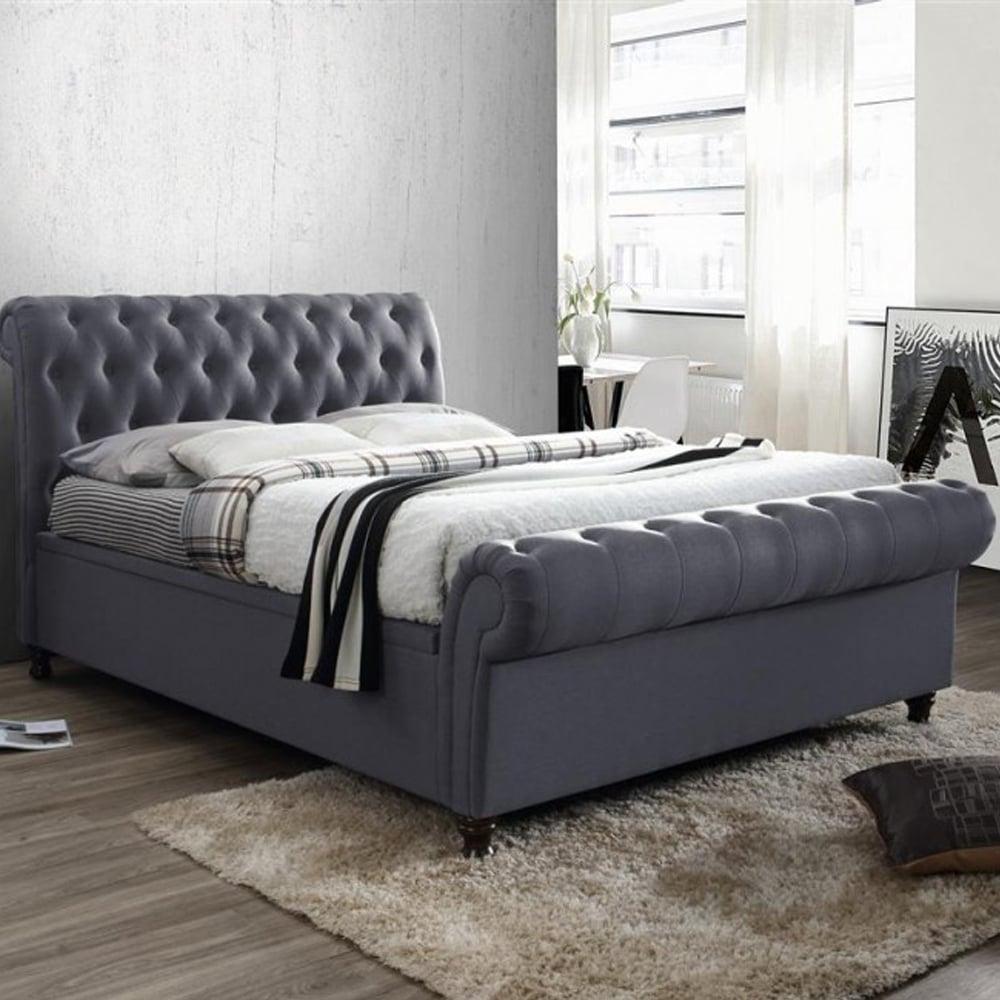 Savings On Birleas Beds Castello 6ft Super Kingsize Charcoal Side