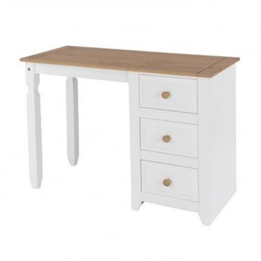 CP371 Capri Single Pedestal Dressing Table