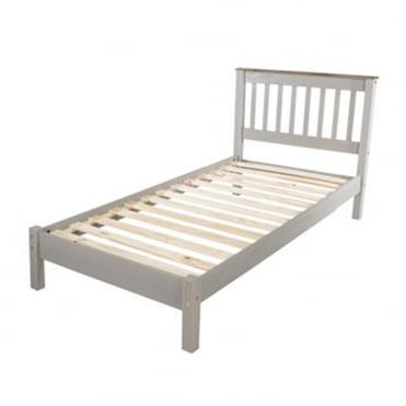 CRG300LE Corona Grey Washed 3ft Single Wooden Bed