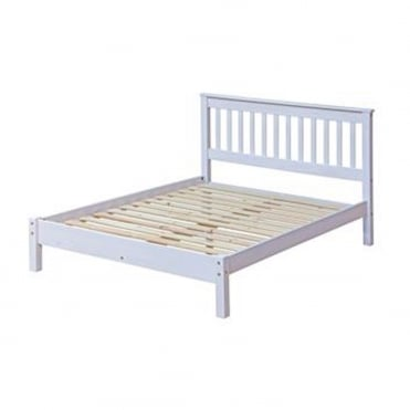 CRW460LE Corona White Wash 4ft6 Double Bed