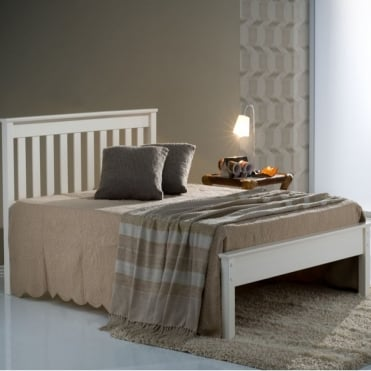 Denver 4ft Small Double White Wooden Bed