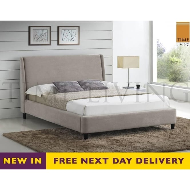 Time Living Exclusive Edburgh 5ft King Size Cream Fabric Bed