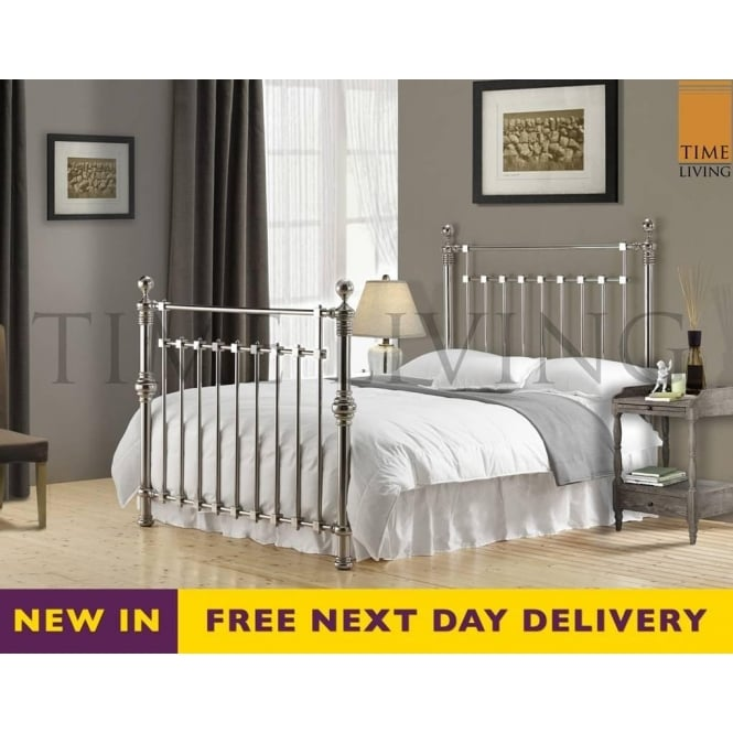 Time Living Exclusive Edward 4ft6 Double Chrome Plated Bed EDW46CHR