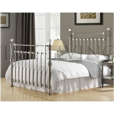 Edward Crystal Chrome Plated 6ft Super King Size Metal Bed