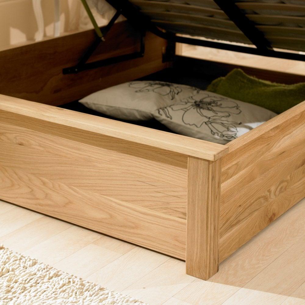 Peachy 6Ft Super King Size Monaco Oak Ottoman Storage Bed Dailytribune Chair Design For Home Dailytribuneorg