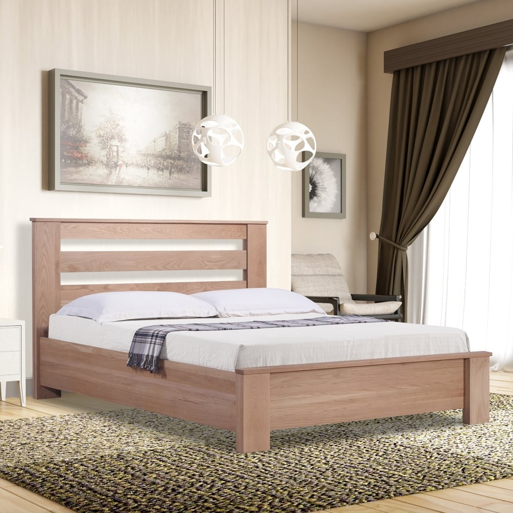 Shop Emporia Beds Hwoa60 Heartwood 6ft Super King Size Oak Wooden Bed