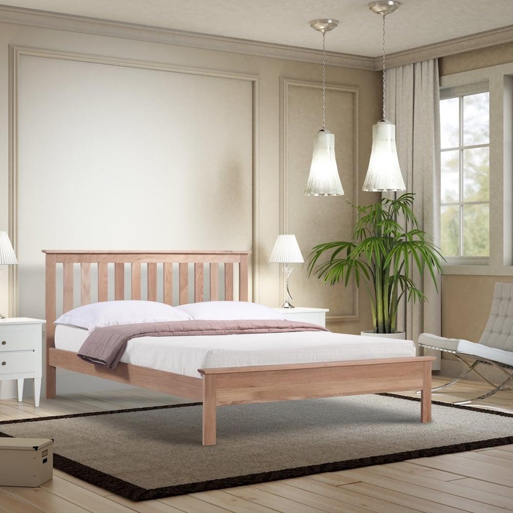Shop Oloa60 Oakland 6ft Super King Size Oak Wooden Bed By Emporia Beds