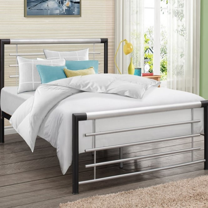 Birlea Beds Faro 5ft King Size Black Metal Bed