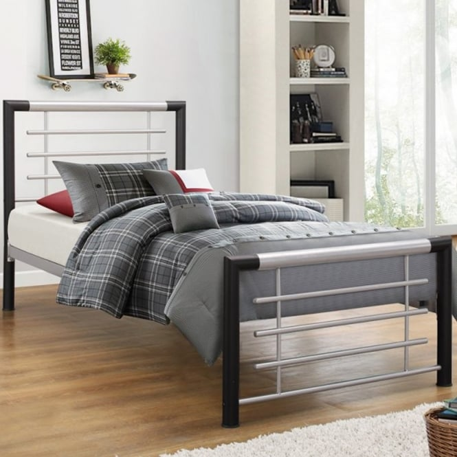 Birlea Beds Faro Black 3ft Single Metal Bed