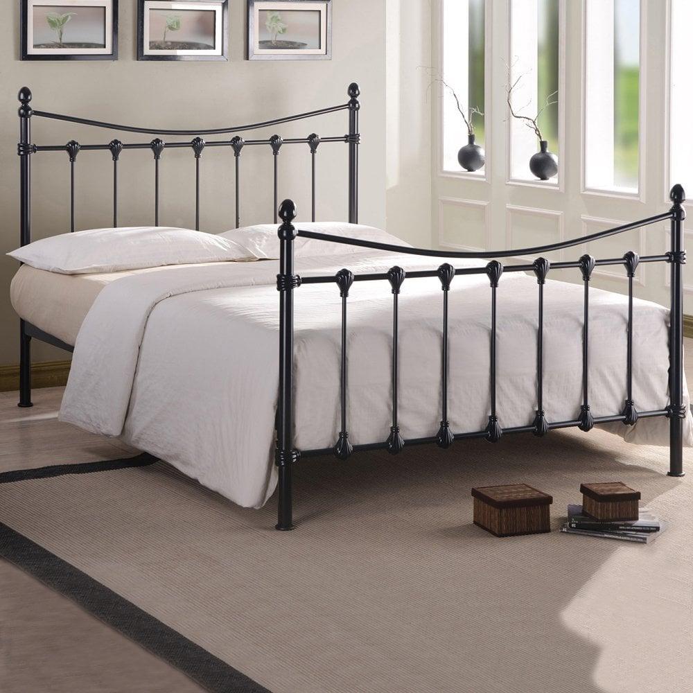 Flo5bk Florida 5ft King Size Black Metal Bed Cheapest Florida