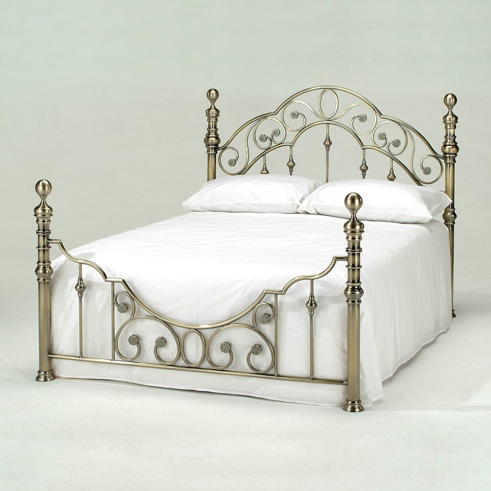 Cheapest Florence 5ft King Size Luxury Antique Brass Bed Sale
