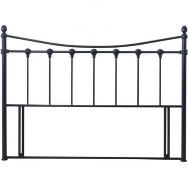 Florida Headboard 3ft Single Black Metal