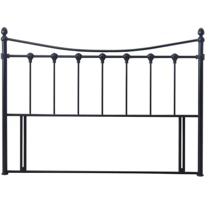 Time Living Florida Headboard 4ft6 Double Black Metal
