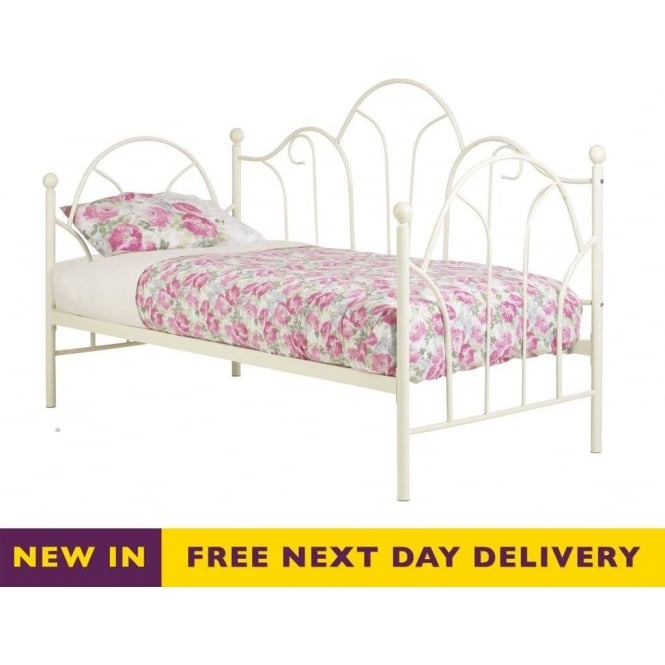 Cheapest Frank Bosworth Romantic 3ft Single Ivory Metal Day Bed Rom